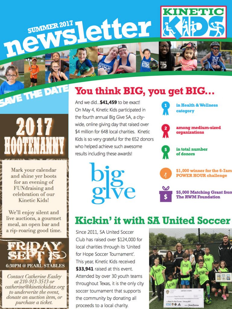 Kinetic Kids 2017 Newsletter